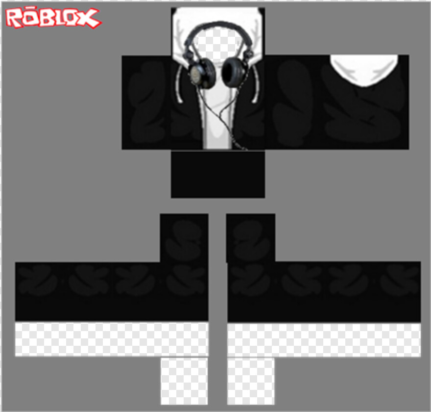 Roblox Jacket Roblox Black Hoodie Template Transparent Png