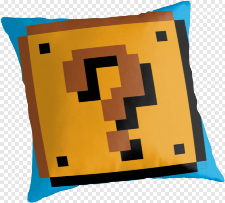 Yellow Question Mark Minecraft Pixel Art Mario Block Png
