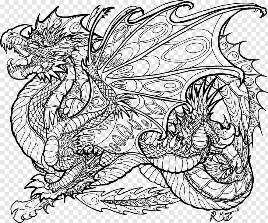 Cool Dragon - Mythical Dragon Dragon Coloring Pages ...