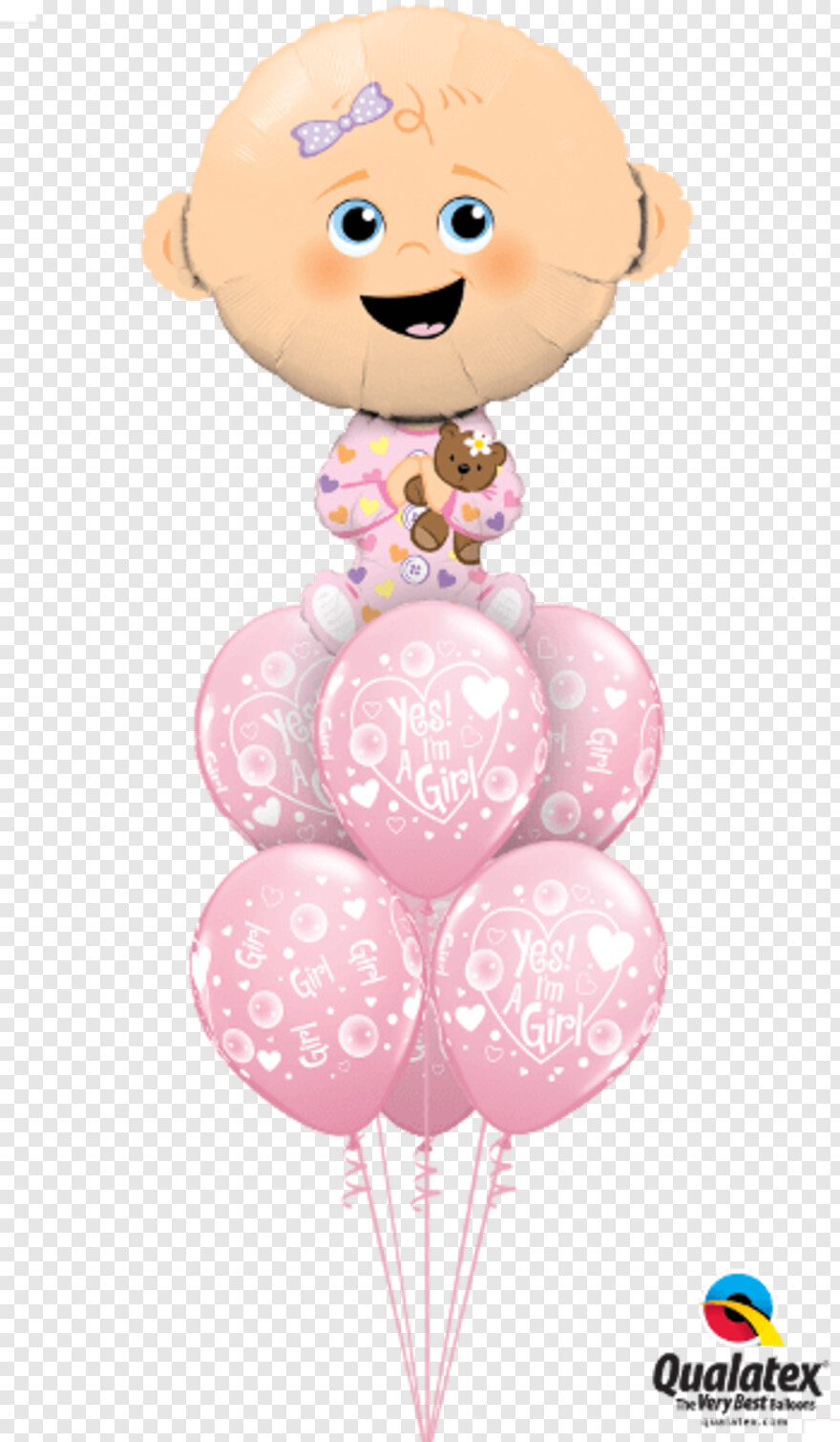 Pink Baby Feet - Its A Boy Balloons, HD Png Download