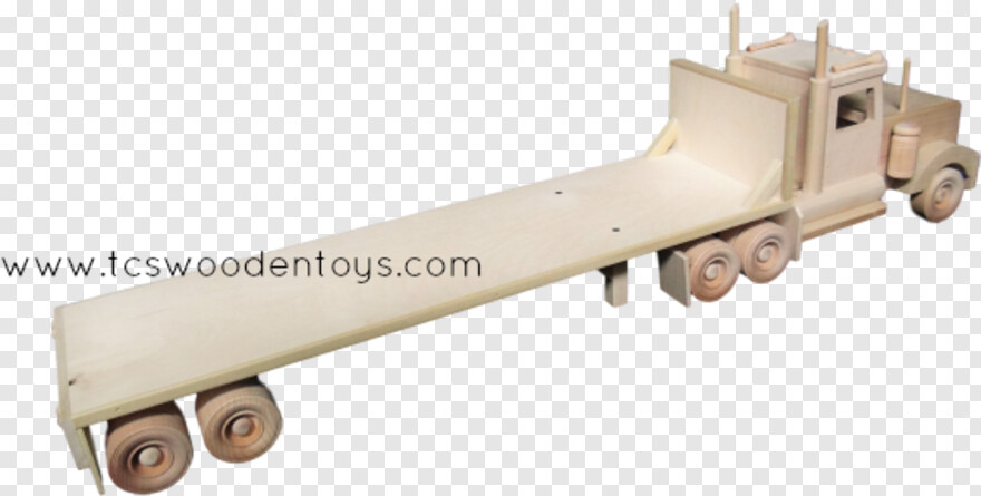 Flatbed Truck - Semi Flatbed Trailer Wooden, Png Download