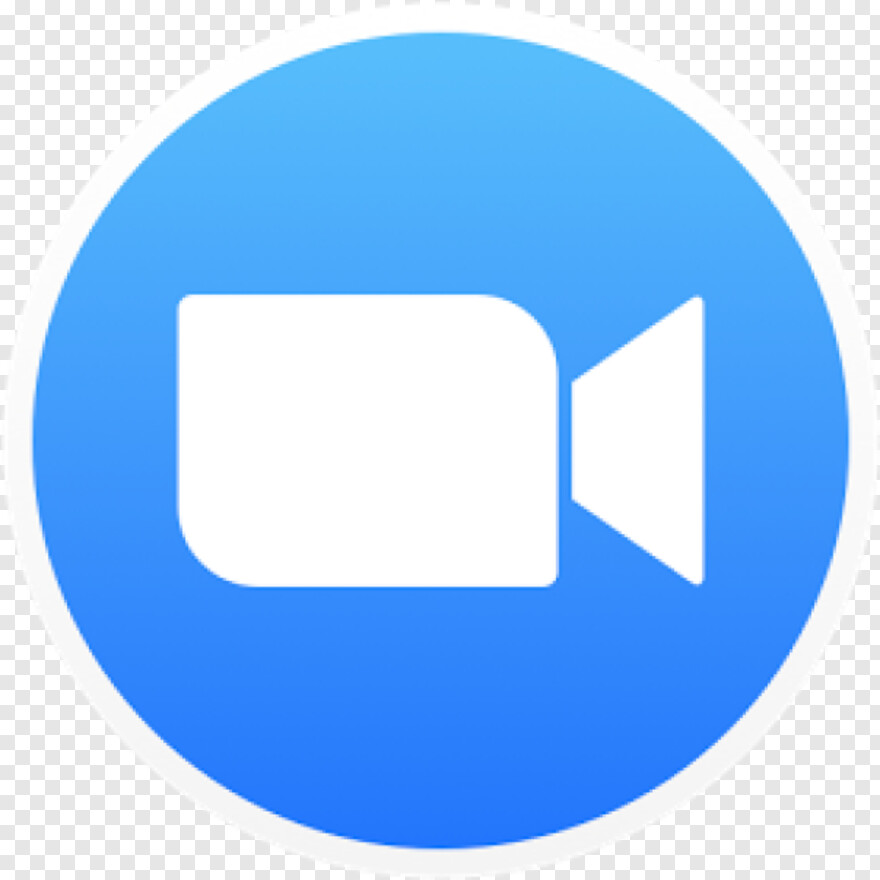 Blue Circle Icon - Zoom Cloud Meetings, Transparent Png