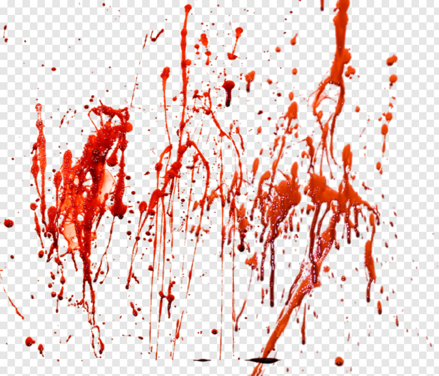 Realistic Dripping Blood - Png Blood Splashes, Transparent ...