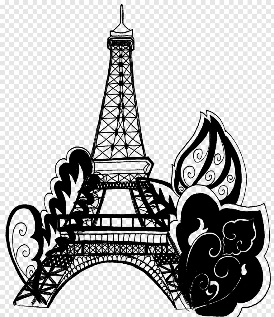 Eiffel Tower - Paris Eiffel Tower Coloring Pages, Png ...