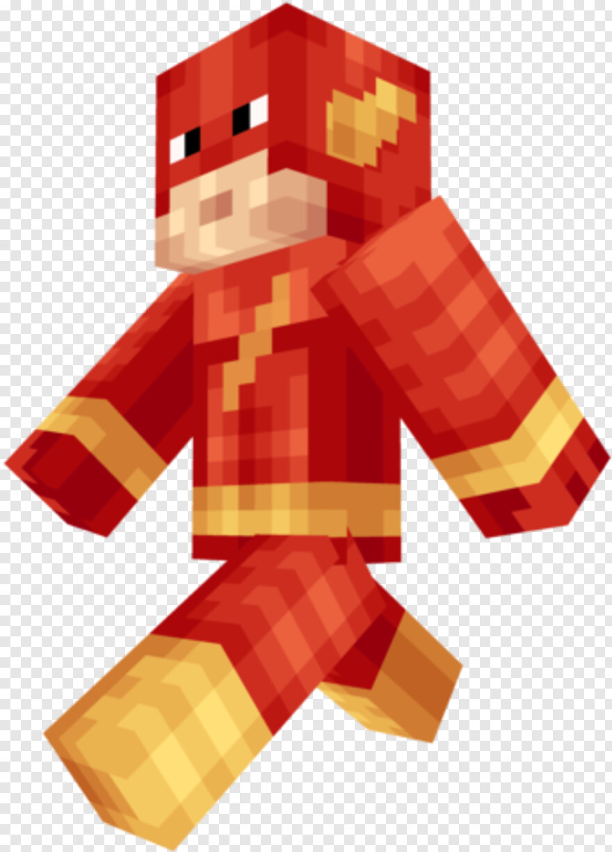 The Flash - Minecraft Flash Skin Png, Transparent Png - 8x8