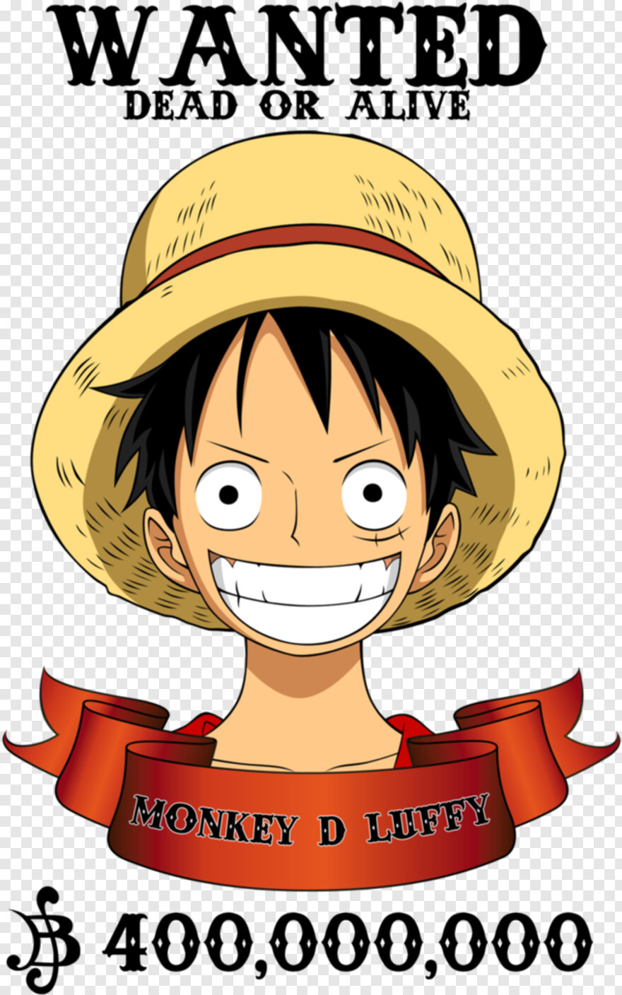 One Piece Logo Png Wanted Monkey D Luffy Png Download