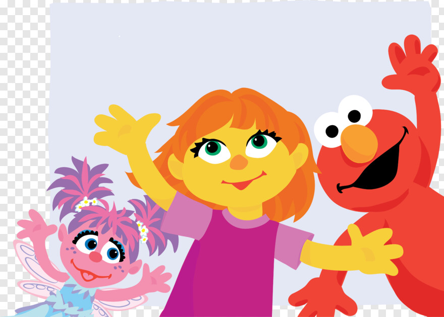 Elmo New Sesame Street Character Julia Transparent Png