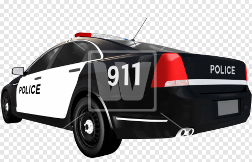 Police Siren - Police Car Back Png, HD Png Download