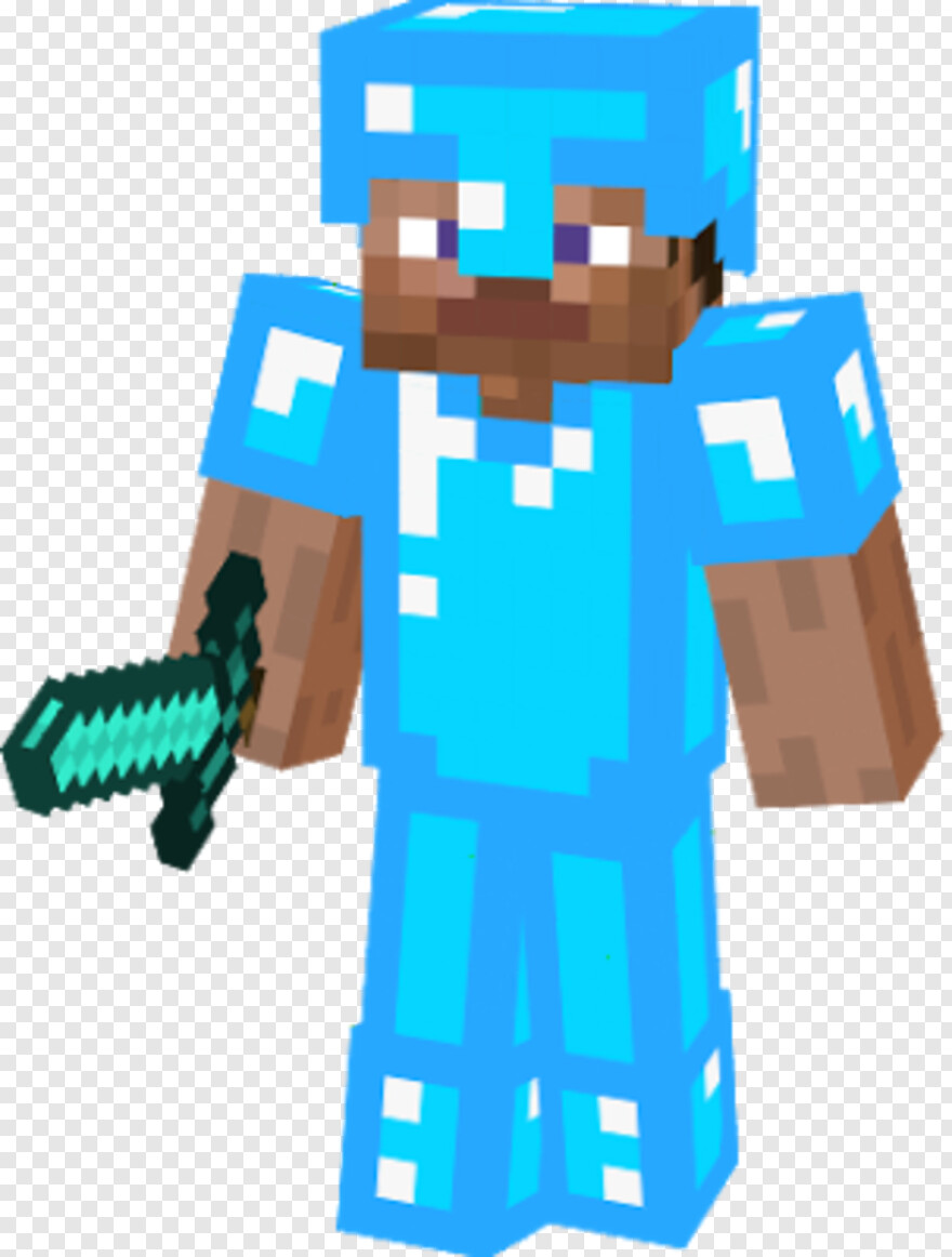 Minecraft Steve Steve Minecraft With Diamond Sword And Armor Hd Png Download 303x400 252757 Png Image Pngjoy