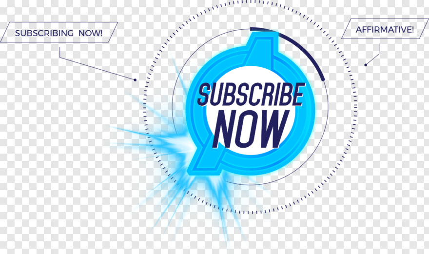 Blue Subscribe - Circle, Png Download