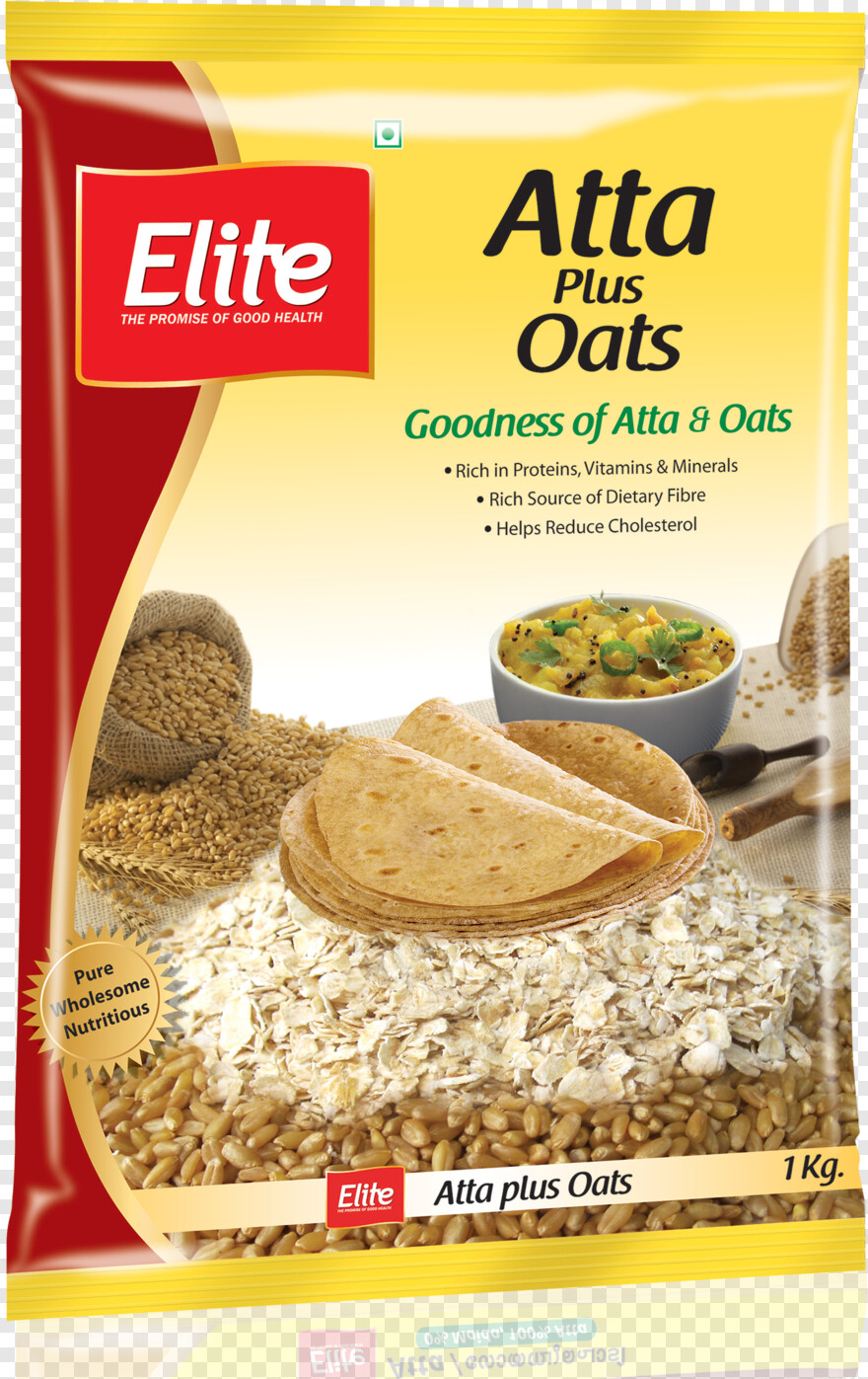 Oats - Elite Atta 1 Kg, Png Download