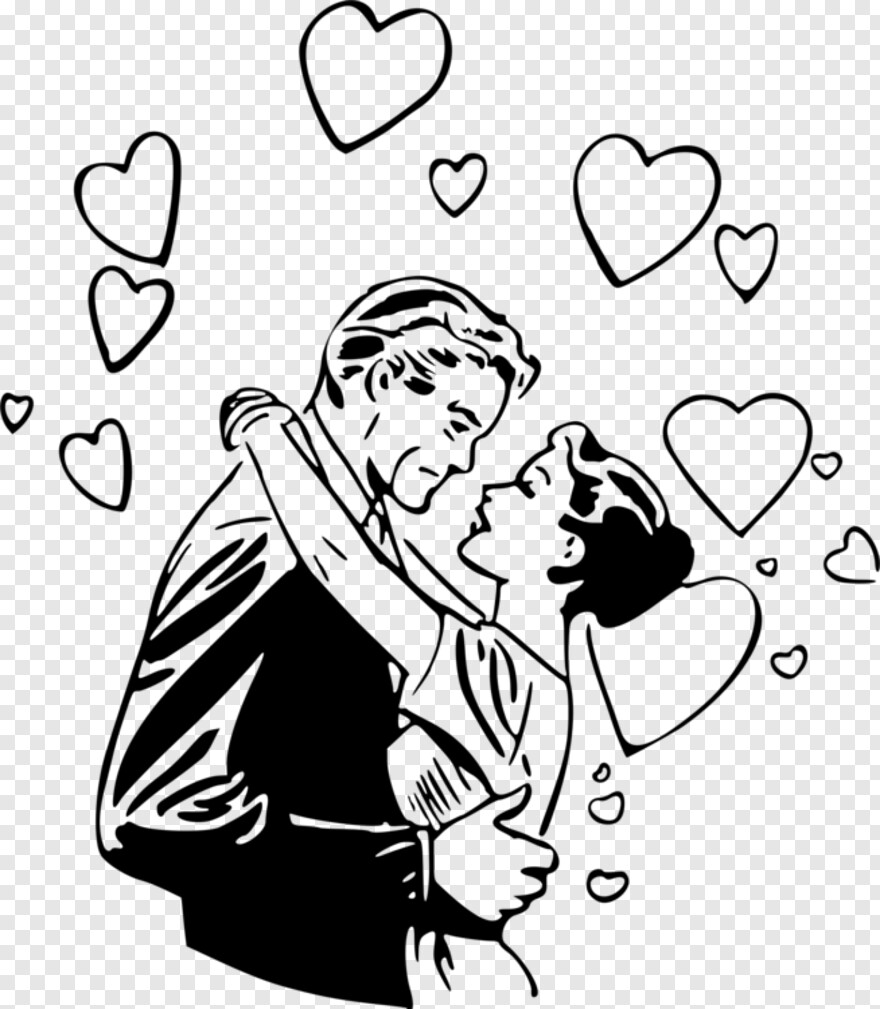 Romance Drawing , Romantic Couple Silhouettes , man lifting woman holding  umbrella transparent background PNG clipart | HiClipart