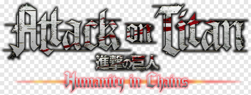 Attack On Titan Logo Attack On Titan Humanity In Chains Logo Hd Png Download 3445x1103 10161026 Png Image Pngjoy