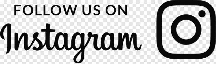 Black And White Instagram Logo Follow Us On Instagram White Png Transparent Png 642x191 1845959 Png Image Pngjoy