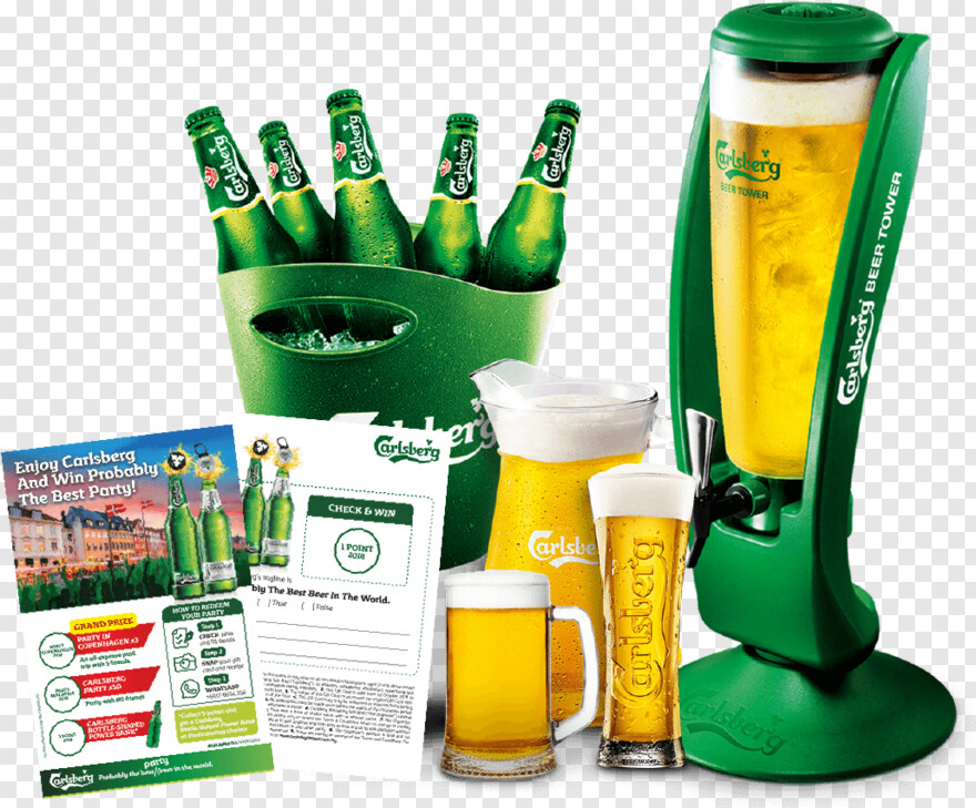 Beer Bucket Carlsberg Smooth Draught Bucket Png Download
