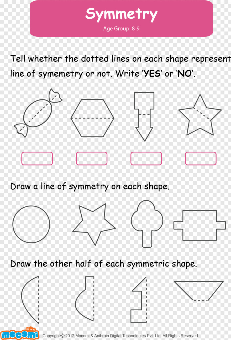 Dotted Lines Symmetry Worksheets For Grade 2 Png Download 1549x2281 10392331 Png Image Pngjoy [ 1296 x 880 Pixel ]