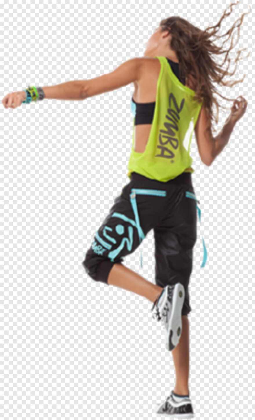 Dancing Girl - Zumba Fitness Model Png, HD Png Download