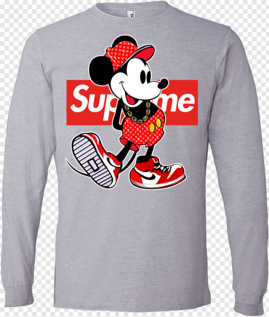 Hypebeast Supreme Mickey Mouse T Shirt Transparent Png 961x1132 10612304 Png Image Pngjoy