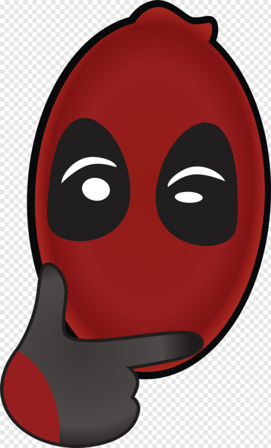 Deadpool Face - Hover To Zoom, HD Png Download