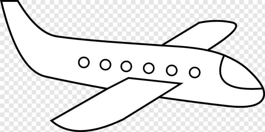 Plane Silhouette Simple Picture Of A Plane Hd Png Download