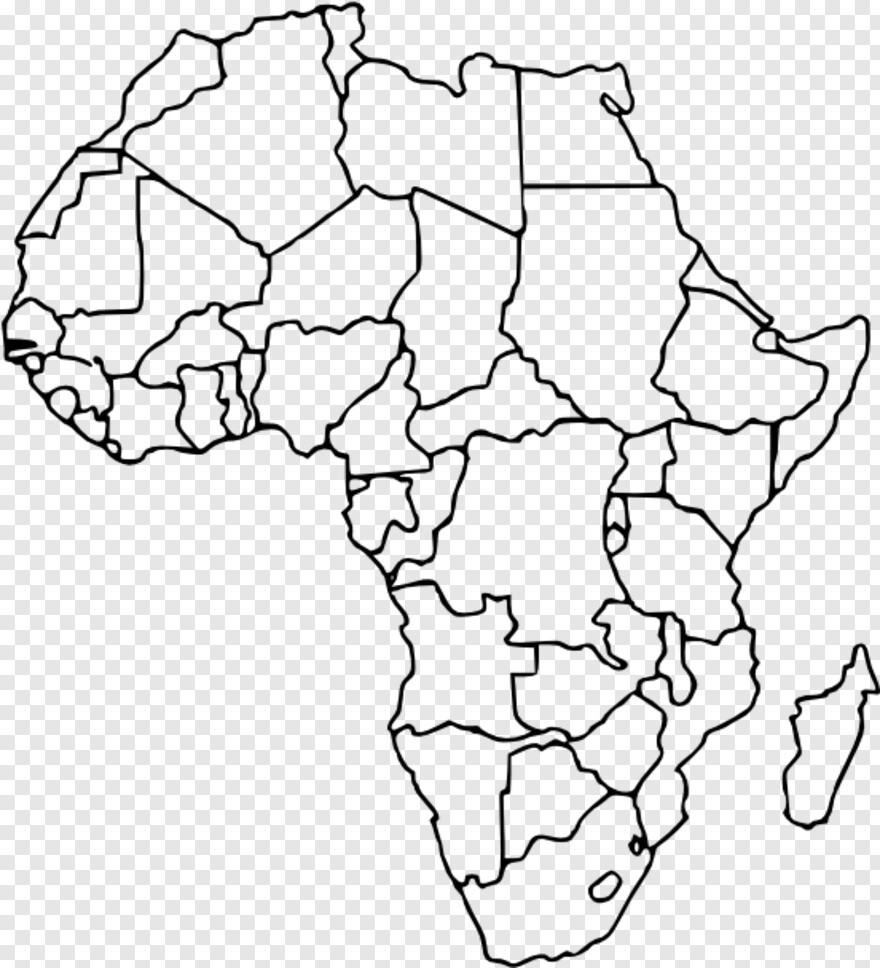 Blank World Map - Africa Political Map Without Names, HD Png ...