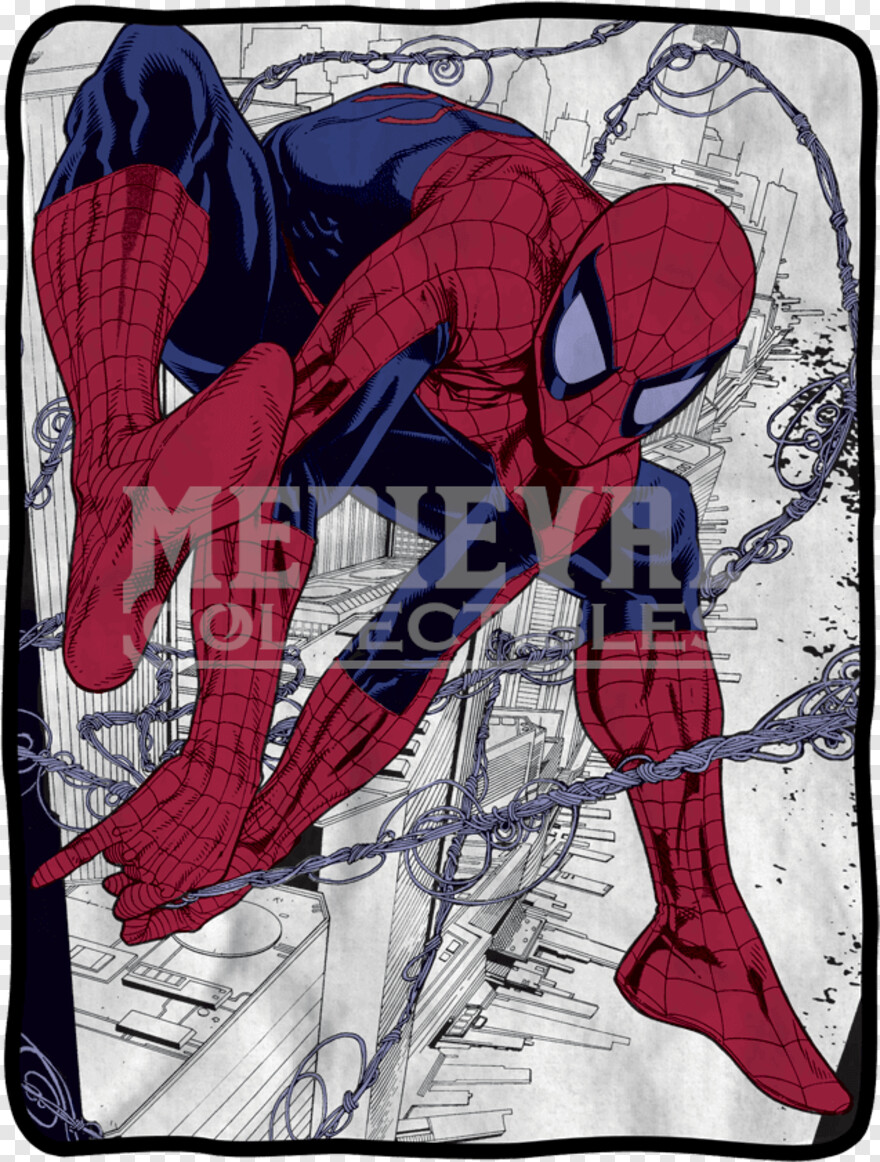 Spiderman Web - Spider-man Webslinger Fleece Throw Blanket, Transparent Png