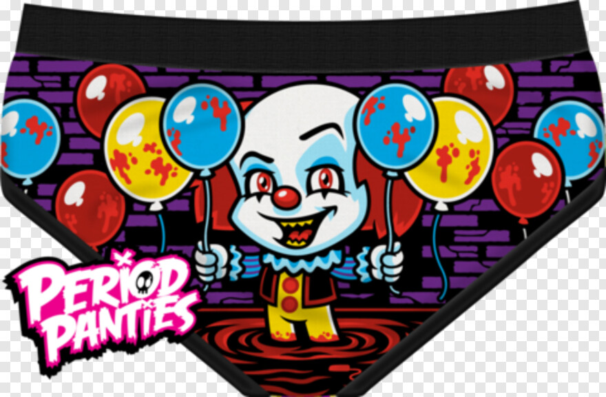 Evil Clown - We All Bloat Down Here Period Panties, HD Png Download