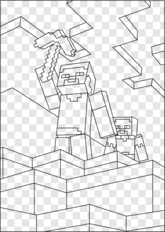 Minecraft Steve Minecraft Coloring Pages Steve And Alex Png Download 500x700 719075 Png Image Pngjoy