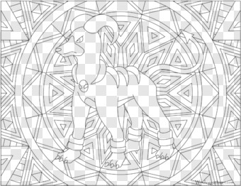 Houndoom Pokemon Colouring Pages Adults Transparent Png 710x547 10030457 Png Image Pngjoy